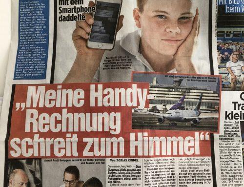 17.5. BILD: Handyrechnung von 3.000 bei Wartezeit auf Rollfeld… Achtung Urlauber.