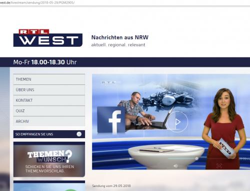 RTL 29.5.: Unfallverursacher-Suche über facebook? RA Kempgens im Interview zu Privatinitiativen.