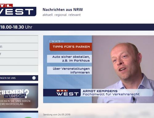 RTL 24.5.: BundesverwG, positives Autofahrerurteil. Baustellenvorlauf mindestens 3 Tage. RA Kempgens im Interview.