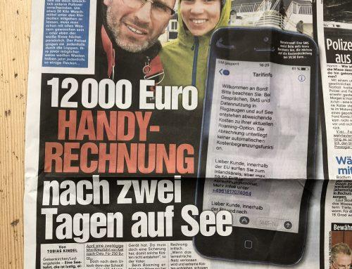 BZ Berlin / BILD 12.6.: Schock nach Seereise. 12jähriger bekommt Handyrechnung über 12.000 EUR.