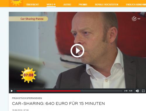 19.6. Sat.1 Frühstücksfernsehen. Panne bei Car-Sharing 640 EUR für 15 Min… Mehr zu dem Fall mit RA Kempgens im Interview.