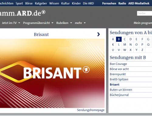 """25.6. ARD """"Brisant"""" 17.15 Uhr. Bericht über Handy-Fall auf Kreuzfahrtschiff. RA Kempgens im Interview."""