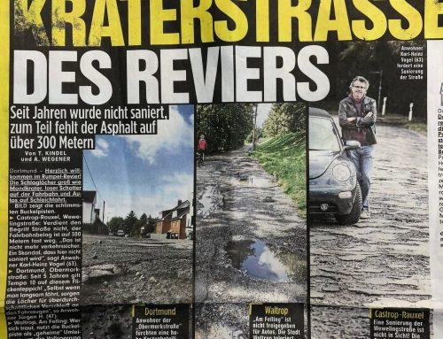 BILD 25.9.18: Kraterstraßen im Revier. Wer haftet? RA Kempgens im Interview.