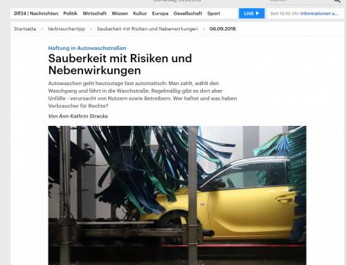6.9.2018: Waschstraßen-Schadenfälle. RA Kempgens im Interview bei Deutschlandfunk.