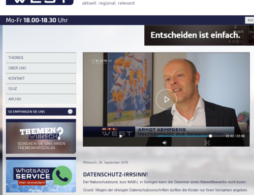 26.9. RTL: Datenschutz bizarr. Warum ein Kinder-Malwettbewerb keine Gewinner hat? RA Kempgens im Interview