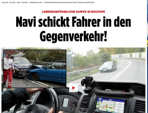 BILD 27.10.18: Navi lenkt Auto in Gegenverkehr.. RA Kempgens im Interview