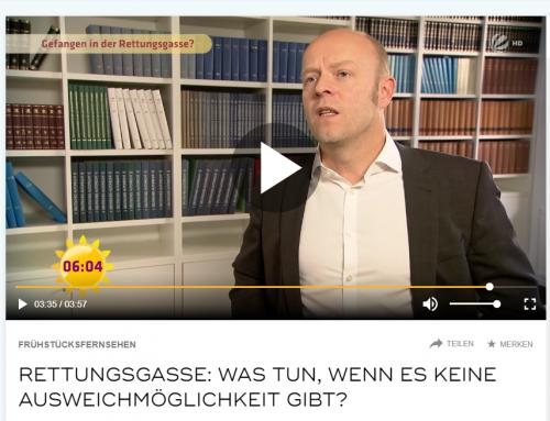 15.10.2018. Rettungsgassen-Fall bei Sat.1 Frühstücksfernsehen. RA Kempgens im Interview