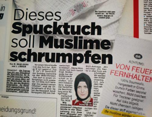 BILD 19.12.18: Kurioser Spucktuch-Fall unserer Kanzlei. Muslima sauer…