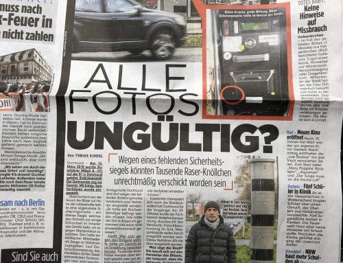BILD 11.1.2019: Falsch-Blitzer-Skandal auf A40/B1. Tausende Autofahrer betroffen. RA Kempgens im Interview