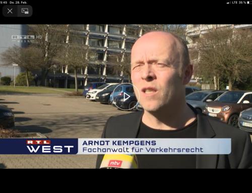 RTL Nachrichten 27.2.19 Neue Unfallzahlen, viele Faherfluchten. RA Kempgens erklärt, was droht.