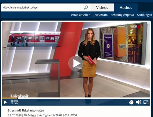 WDR  Lokalzeit Ruhr 21.2.: Stress am Ticketautomat. Muss Kundin Strafe zahlen, wenn Abstempler streikt?