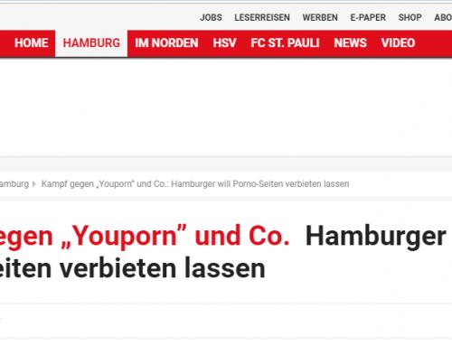 Hamburger Morgenpost 22.2.19: Hamburger kämpft gegen YouPorn.com und andere.. RA Kempgens vertritt Fall.