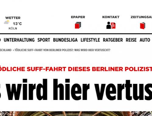 BILD Deutschland 8.2.: Tödlicher Polizeieinsatz bewegt Deutschland. RA Kempgens im Interview.