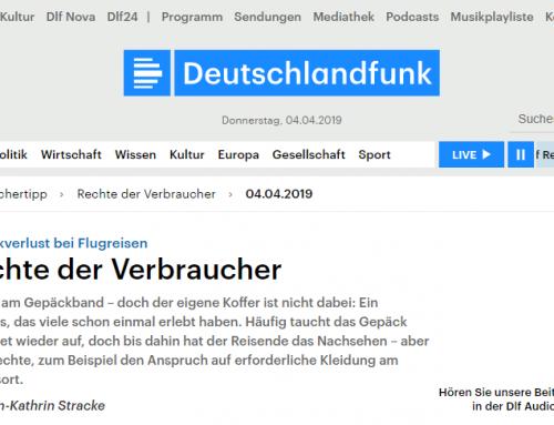 4.4.: Was tun bei Gepäckverlust. RA Kempgens im Radiointerview bei Deutschlandfunk