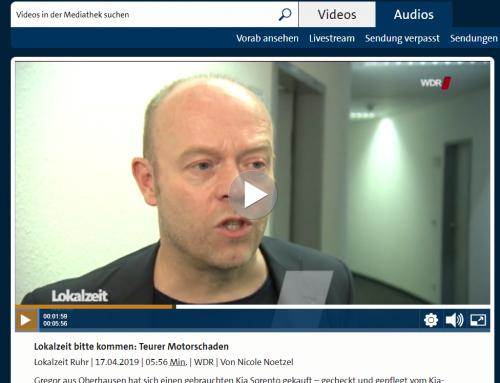 WDR Fernsehen 17.4.: Was tun bei Ärger mit Werkstatt. RA Kempgens mit Tipps in der Lokalzeit Ruhr