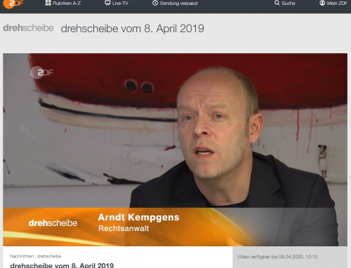 8.5.: ZDF Bericht zum Kölner Rheinbrücken Fall unserer Kanzlei.