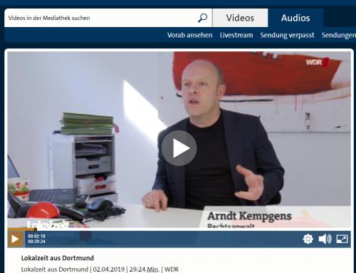 2.4. WDR Lokalzeit Dortmund. Strafverfahren wegen Autobahnsperre bei Hochzeit. RA Kempgens im Interview..