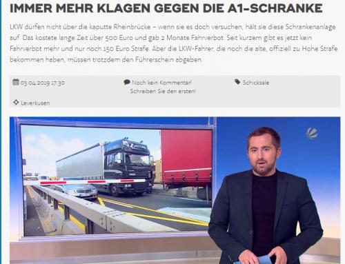 3.4. SAT.1 Bericht zu Rheinbrücken-Fälle. Lkw Fahrer verärgert. RA Kempgens zu den Möglichkeiten der Betroffenen