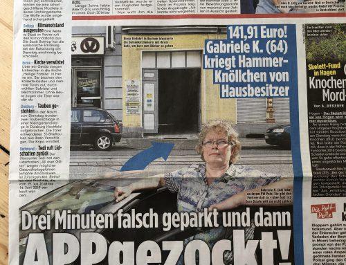 BILD 4.7.: Parkplatz-Abzocke für Einfahrt… Was es nicht alles gibt…