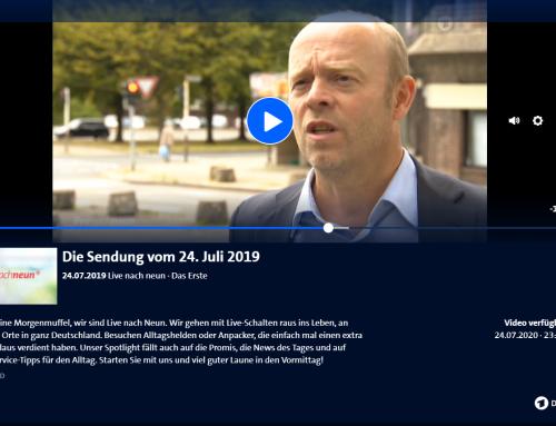 """ARD 24.7. """"Live nach Neun"""", Autobumser-Fall unserer Kanzlei in ARD Morgensendung"""