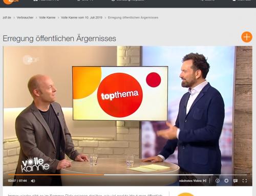 """ZDF 10.7. RA Kempgens live in der Morgensendung """"Volle Kanne"""" zum Thema öffentliche Ärgernisse. Hier gehts zum Beitrag im ZDF-Archiv"""