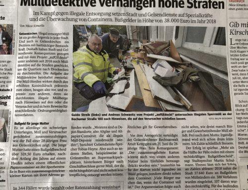 19.8. WAZ Bericht zu bizarrem Müll-Fall unserer Kanzlei.