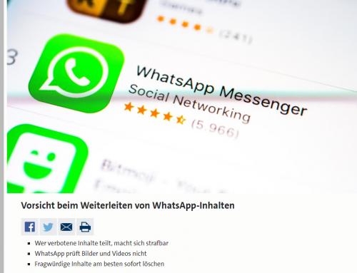 20.8. WDR2: Mit einem Klick im Knast? Was man bei WhatsApp und Co. unbedingt beachten sollte. Inhalte prüfen!