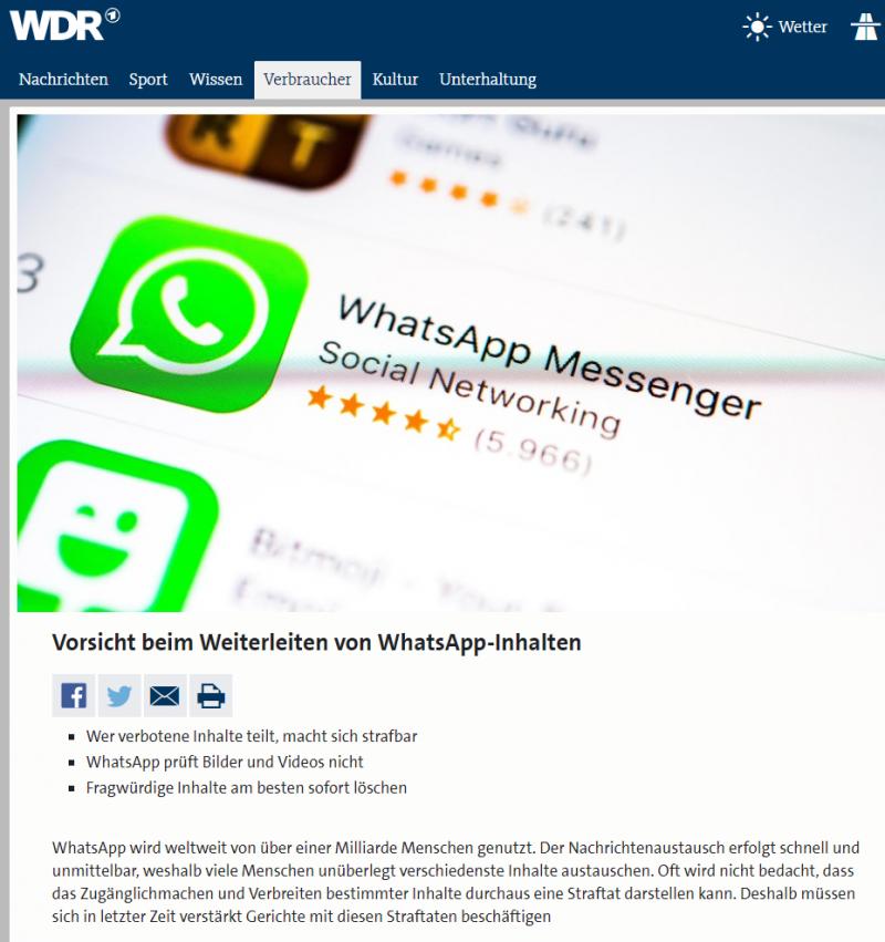 Lokalzeit Whatsapp