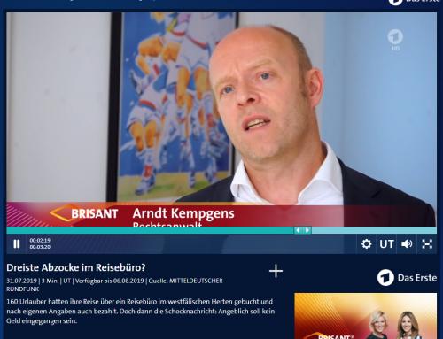 31.7.: Reisebüro-Abzocke Fall bei ARD Brisant. Sehen mehr zum Fall in der ARD Mediathek