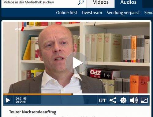 WDR Servicezeit 10.9. Teurer Nachsendeauftrag. Wo die Fallen sind, sehen Sie mit RA Kempgens im Interview.