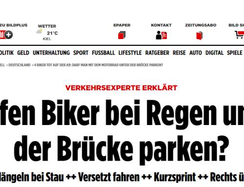 1.9.: Nach dem schrecklichen Unfall auf A9 mit 4 toten Motorradfahrern. BILD berichtet zu den Hintergründen. RA Kempgens zur Rechtslage.