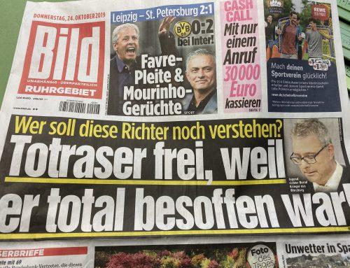 BILD 24.10.: Umstrittenes Urteil zu tödlichem Unfall von Würzburg in der Diskussion. RA Kempgens im Interview