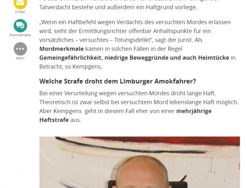 FOCUS online 9.10.: Amokfahrt vom Limburg. Wie geht es weiter? RA Kempgens im FOCUS Interview