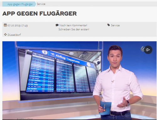 SAT.1 am 7.10.: Neue Reise-App soll Ärger bei Flugreisen reduzieren. RA Kempgens im TV Interview
