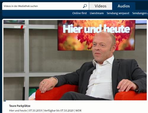 """WDR Fernsehen 7.10. Ärger um die """"privaten Knollen"""" auf Supermarktparkplatz. Neues rund um die Knolle mit RA Kempgens live bei hier & heute"""