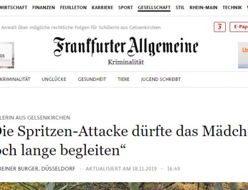 FAZ 18.11.: Großes FAZ-Interview zum Spritzen Fall mit RA Kempgens. Mehr lesen Sie hier..