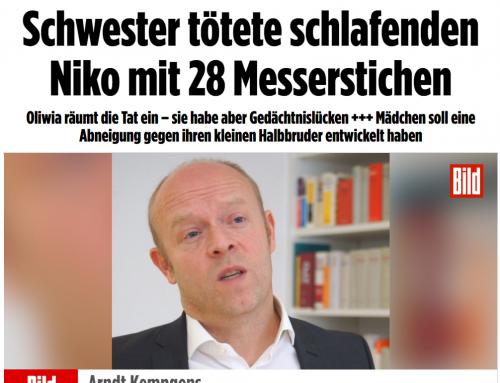BILD 8.11. 15-jährige ersticht 3-jährigen Bruder. Eine schreckliche Tat bewegt Deutschland. RA Kempgens zu den Hintergründen..