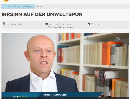 31.10. Verkehrsrecht kurios. RA Kempgens im SAT.1 Interview zur Düsseldorfer Umweltspur