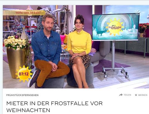 SAT.1 Frühstücksfernsehen am 10. Dezember: Hilfe, die Bude ist kalt. RA Kempgens im TV Interview zu Möglichkeiten der Mieter