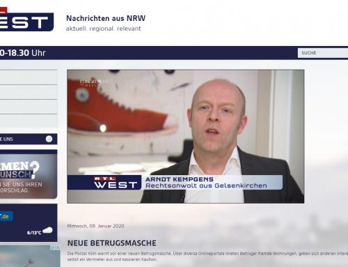 RTL 8.1.: Fiese Betrugsmasche um Traumwohnung. RA Kempgens im Interview