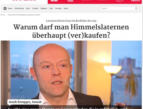 4.1.20: Pressespiegel zu weiteren Interviews mit RA Kempgens zum Brand im Krefelder Zoo…
