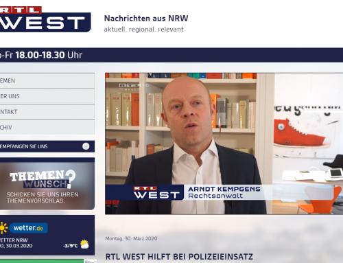 30.3. RTL West. Reporter wird Teil eines Polizeieinsatzes
