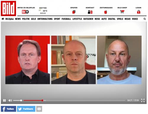 8.5. RA Kempgens täglich bei  BILD TV in der Live-Verbrauchersendung mit Moderator Frank Ochse
