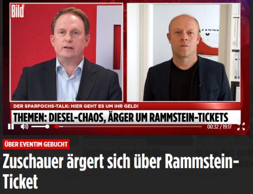 3.6. BILD Live. Ärger um Rammstein Tickets.