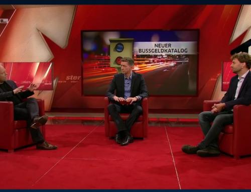 10.6. RTL SternTV. Ärger um neue Fahrverbote. RA Kempgens im Live-Talk mit Moderator Steffen Hallaschka und Grünen Verkehrsobmann MdB Stefan Gelbhaar