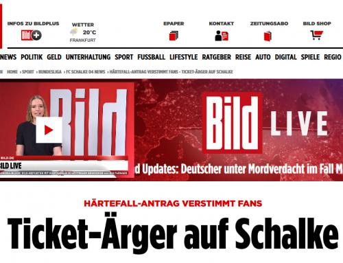 4.6. Ticket-Ärger auf Schalke. Unstimmigkeit zu Härtefall-Klausel.