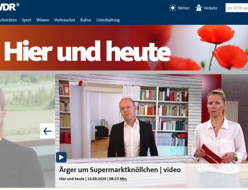 """10.9. WDR hier&heute, Ärger um """"Supermarkt-Knöllchen"""".. Das sind Ihre Rechte:"""