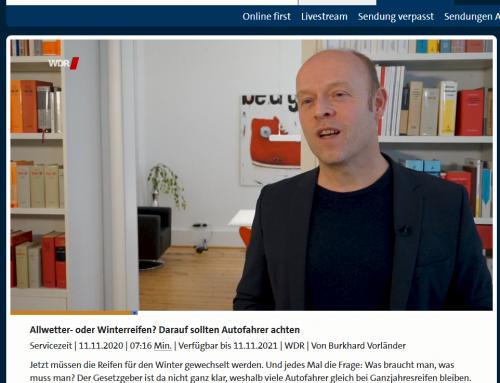 15.11. Auch wenn es derzeit vergleichsweise warm ist, bitte an Winterreifen denken. Alles dazu hier im aktuelle WDR TV Beitrag: