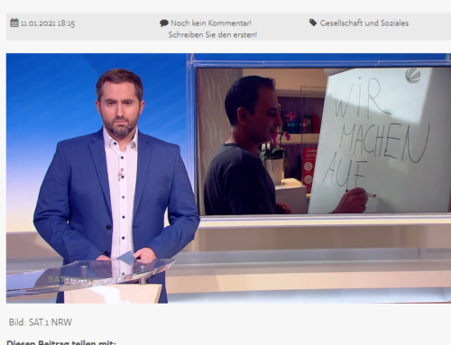 SAT.1 Nachrichten am 11.1.21: Einzelhändler wollen Läden trotz Verboten öffnen. RA Kempgens im Interview