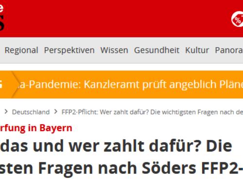 13.1. RA Kempgens im Focus Online Interview zur FFP2 Idee von Ministerpräsident Markus Söder.